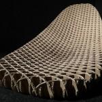 Cardboard Chaise Prototype I Quarter Iso Grid